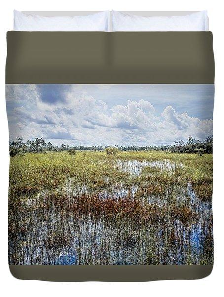 florida Everglades 0177 Duvet Cover by Rudy Umans