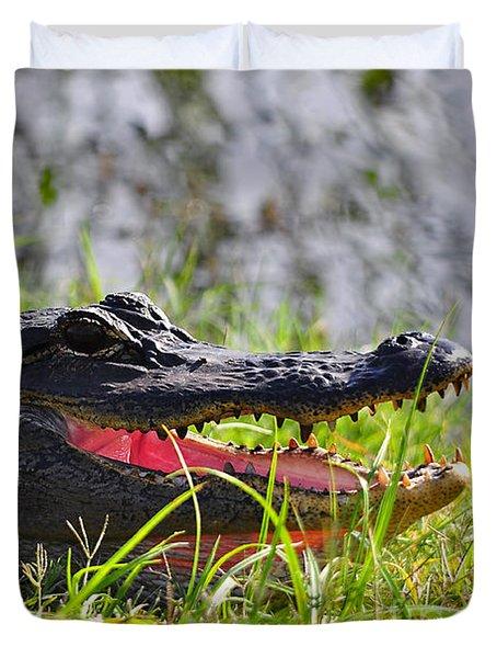 Gator Grin Duvet Cover