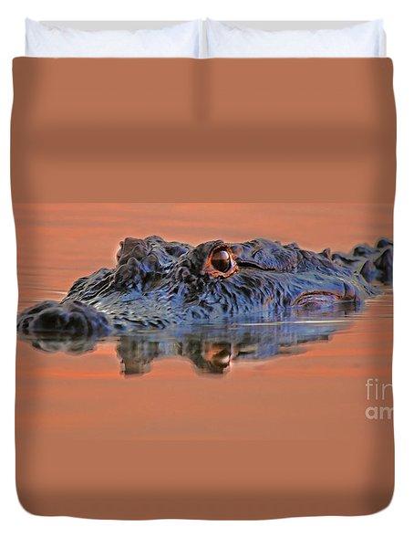 Alligator For Florida  Duvet Cover