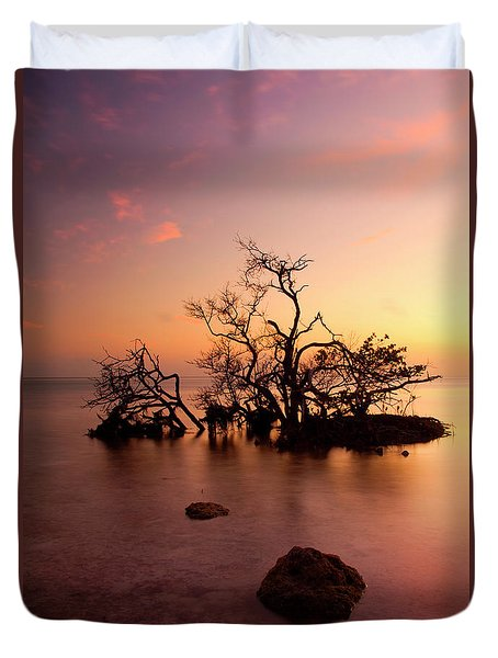Florida Keys Sunset Duvet Cover by Mike  Dawson