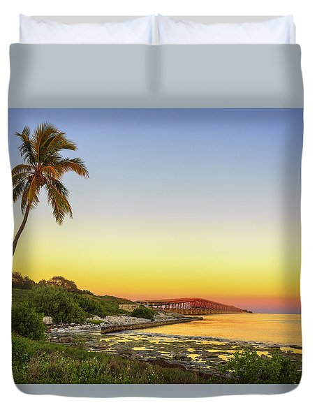 Florida Keys Sunset Duvet Cover