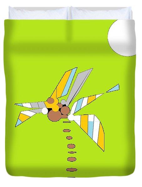 Duvet Cover featuring the digital art Florida Palm 1 by Ann Calvo