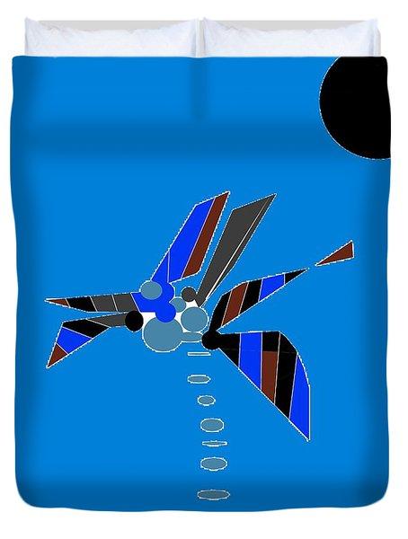 Duvet Cover featuring the digital art Florida Palm 2 by Ann Calvo