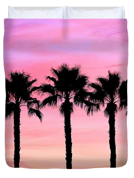 Florida Palm Trees Duvet Cover