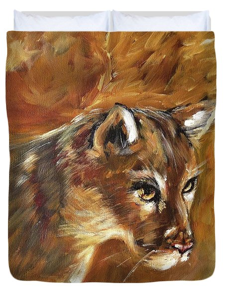 Florida Panther Duvet Cover