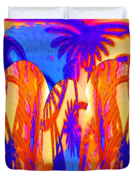 Florida Splash Abstract Duvet Cover by Alec Drake