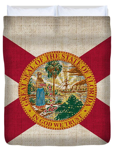 Florida State Flag Duvet Cover by Pixel Chimp