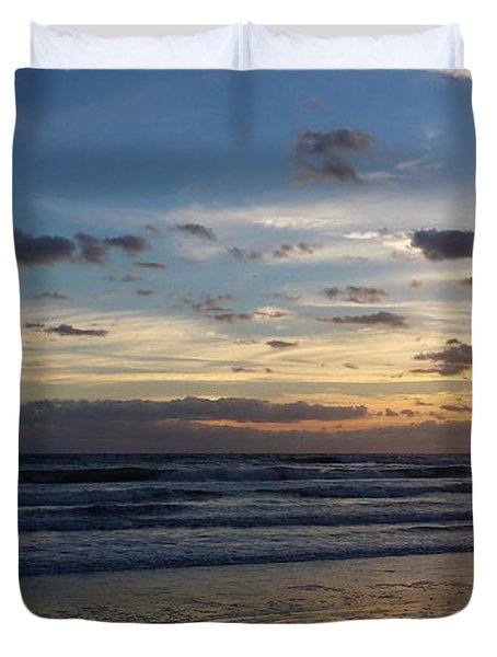 Duvet Cover featuring the photograph Florida Sunrise by Ally  White