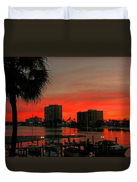 Florida Sunset Duvet Cover by Hanny Heim