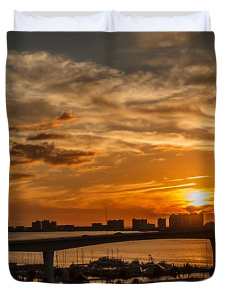 Duvet Cover featuring the photograph Florida Sunset by Jane Luxton