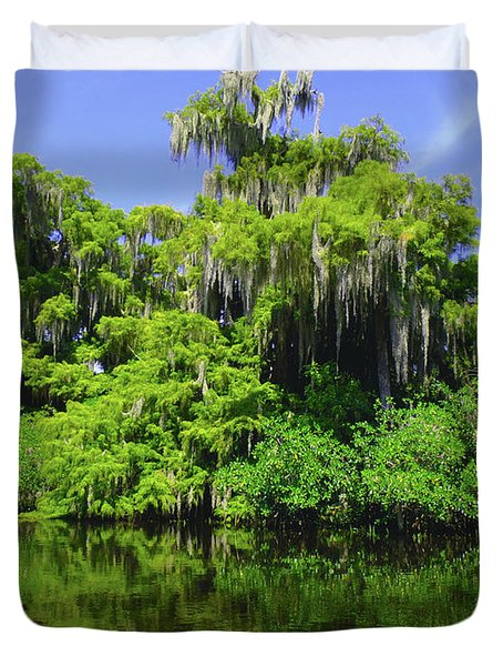 Florida Swamps Duvet Cover by Carey Chen