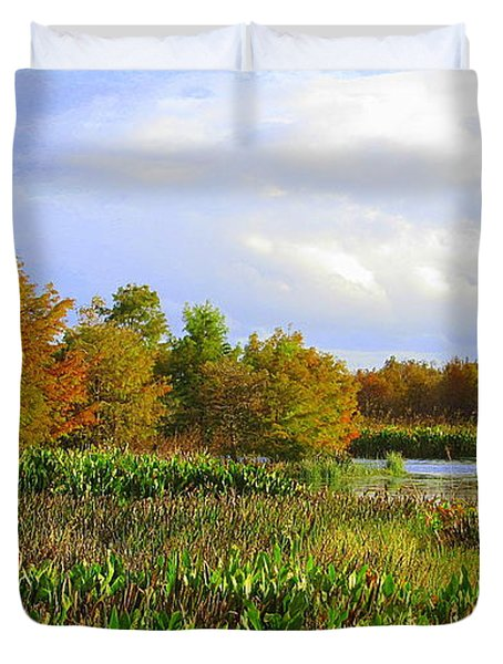 Florida Wetlands August Duvet Cover