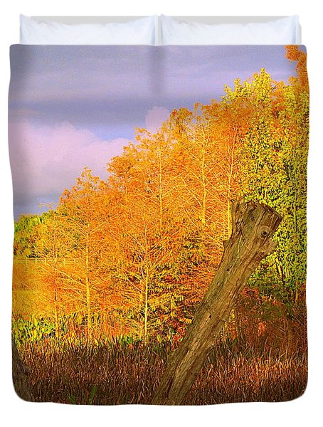 Florida Wetlands  Duvet Cover