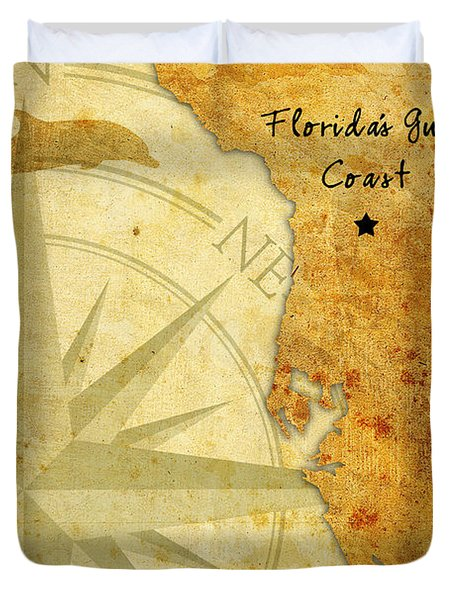 Florida's Gulf Coast Duvet Cover