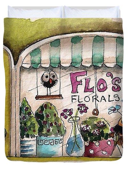 Flo's Flowers Duvet Cover by Lucia Stewart