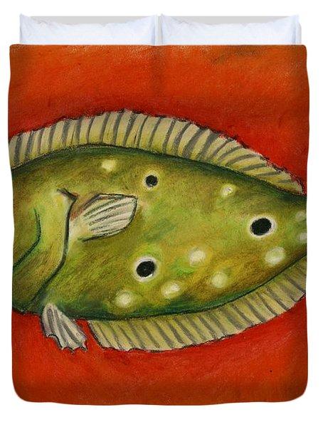 Flounder Duvet Cover