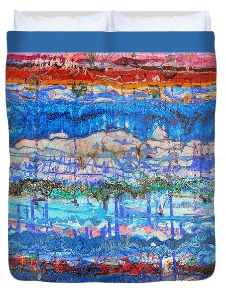 Flow Instability Duvet Cover by Regina Valluzzi
