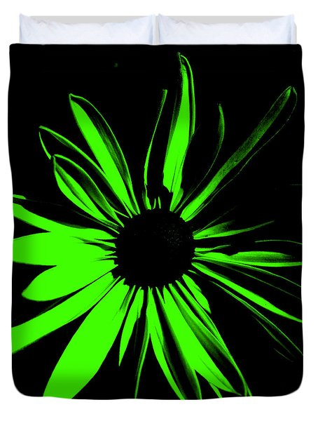Duvet Cover featuring the digital art Flower 12 by Maggy Marsh