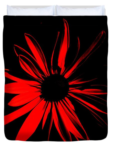 Duvet Cover featuring the digital art Flower 2 by Maggy Marsh