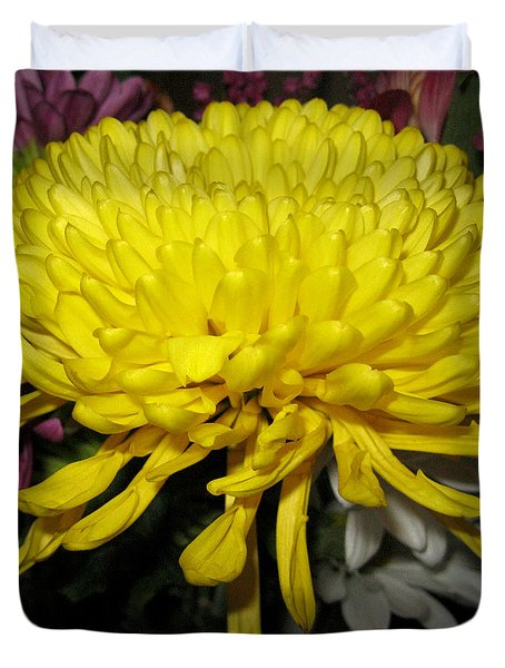 Yellow Queen. Beautiful Flowers Collection For Home Duvet Cover
