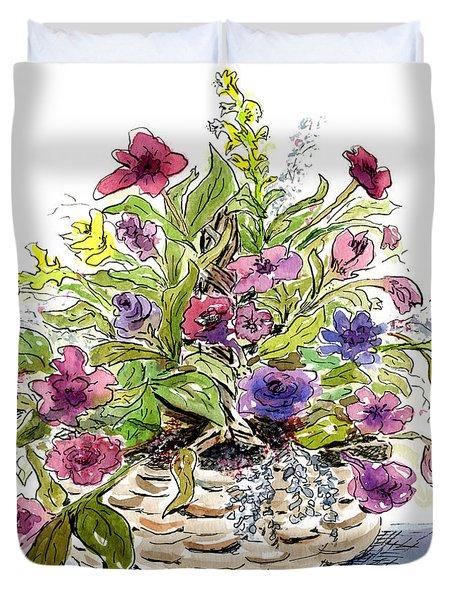 Flower Basket I Duvet Cover