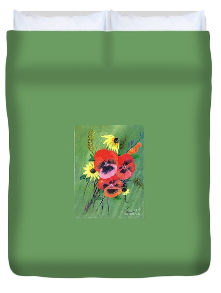 Flower Bunch Duvet Cover