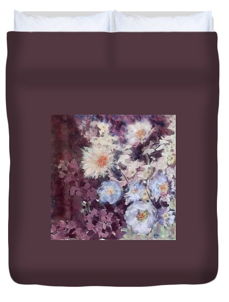 Flower  Burst Duvet Cover by Richard James Digance