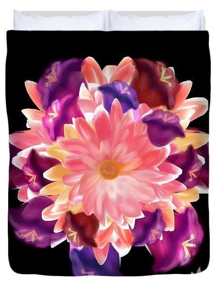 Flower Circle Duvet Cover by Christine Fournier
