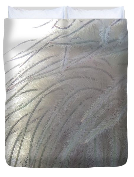 Duvet Cover featuring the photograph Floral Feathers by Ramona Johnston