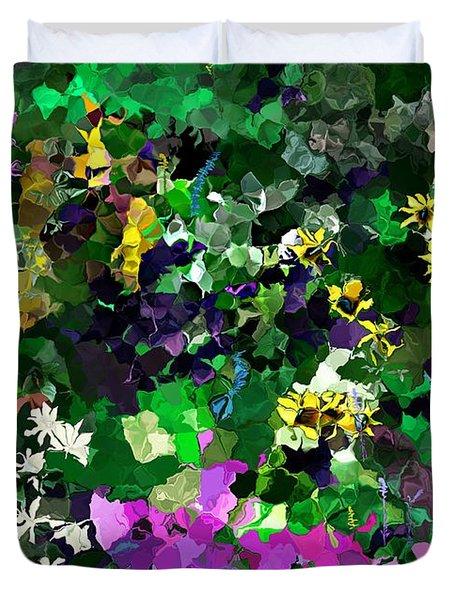 Flower Garden Duvet Cover by David Lane