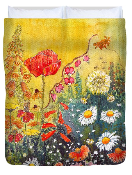 Flower Garden Duvet Cover