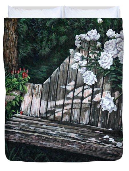 Flower Garden Seat Duvet Cover