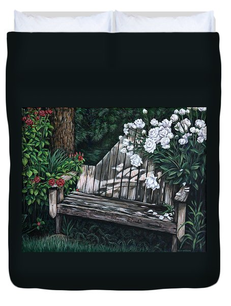 Flower Garden Seat Duvet Cover by Penny Birch-Williams