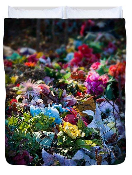 Flower Graveyard Duvet Cover