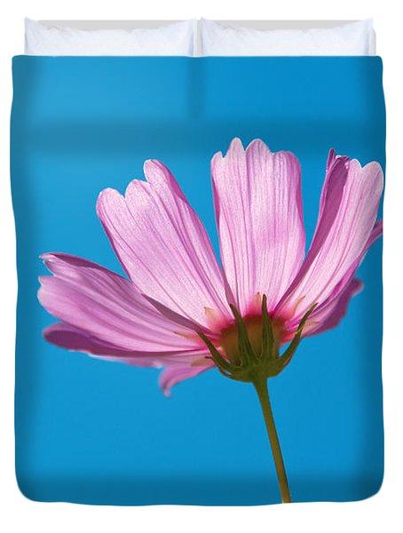 Flower - Growing Up In Philadelphia Duvet Cover by Mike Savad