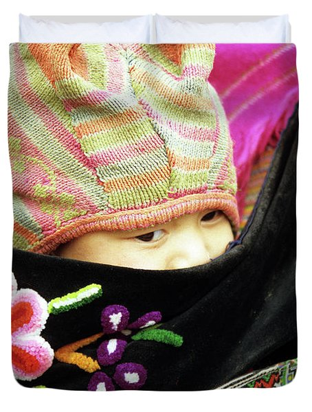 Flower Hmong Baby 02 Duvet Cover by Rick Piper Photography