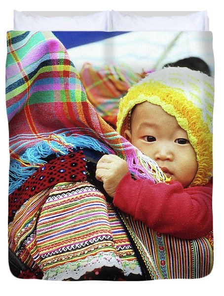 Flower Hmong Baby 04 Duvet Cover by Rick Piper Photography