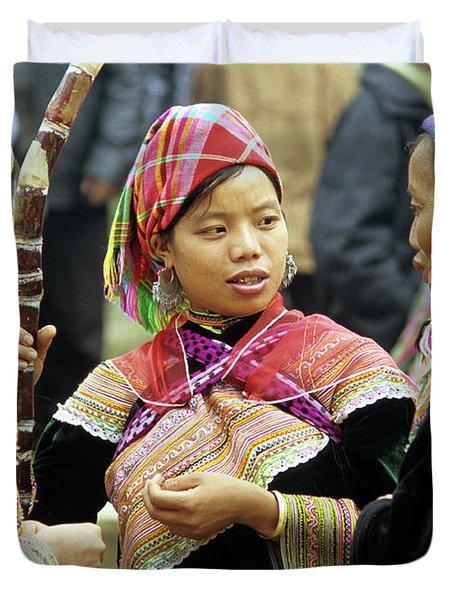 Flower Hmong Women Duvet Cover by Rick Piper Photography