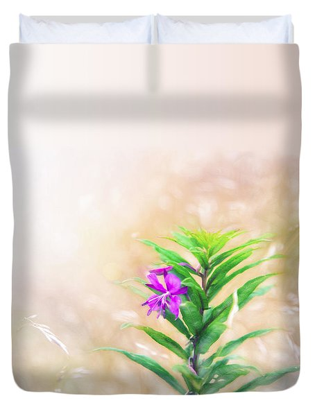 Flower In Watercolor Duvet Duvet Cover