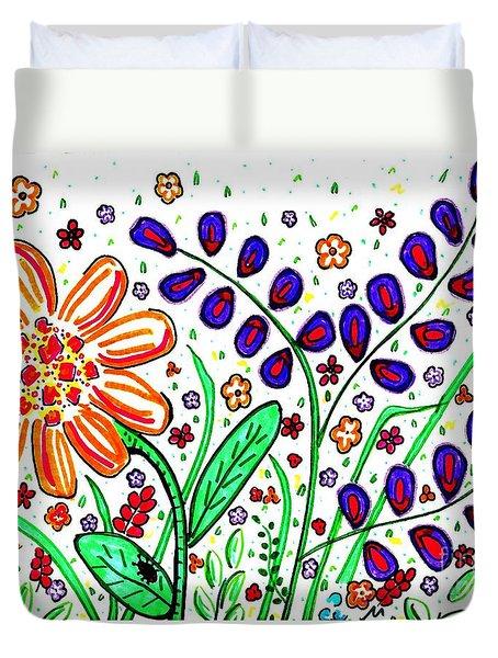 Flower Joy Duvet Cover by Sarah Loft