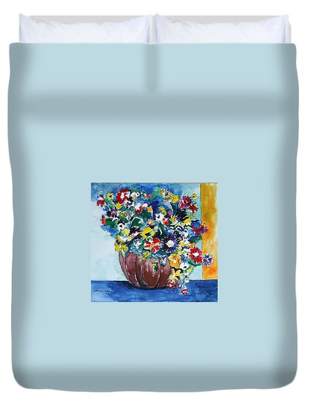 Flower Jubilee Duvet Cover by Esther Newman-Cohen