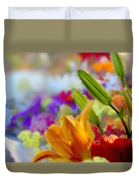 Flower Market 1 Duvet Cover