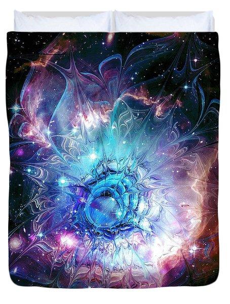 Flower Nebula Duvet Cover by Anastasiya Malakhova