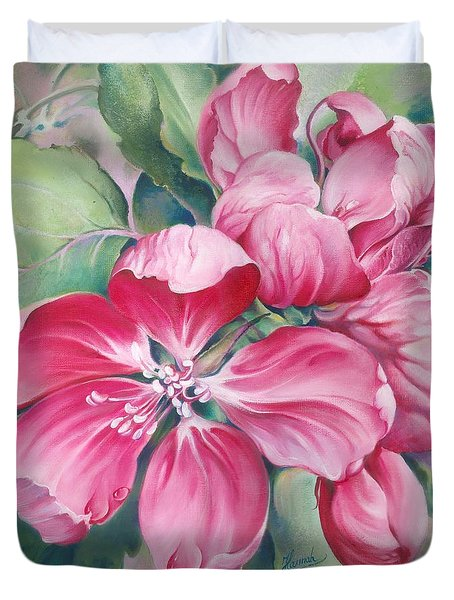 Flower Of Crab-apple Duvet Cover