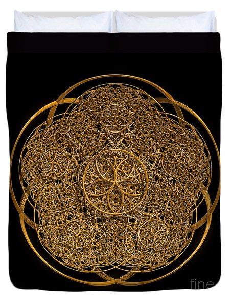 Flower Of Life Duvet Cover by Olga Hamilton