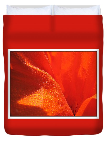Peace And Death Flower Duvet Cover