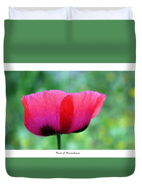 Flower Of Remembrance Duvet Cover by Martina  Rathgens
