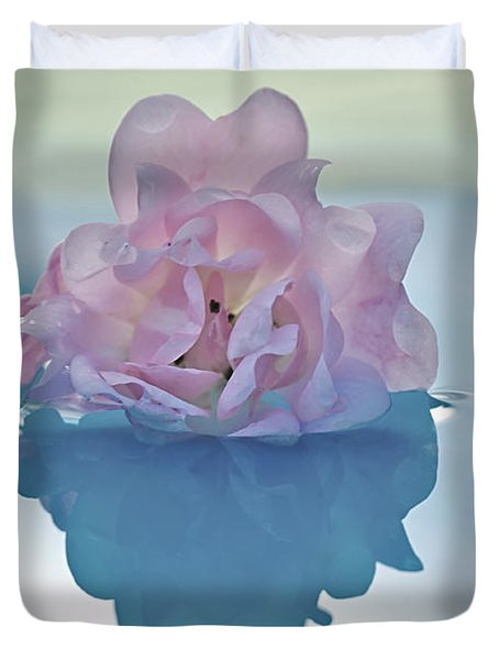 Flower On Water Duvet Cover