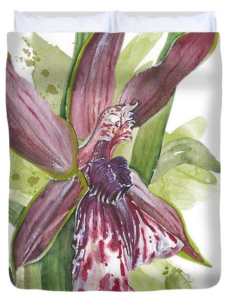 Flower Orchid 10 Elena Yakubovich Duvet Cover by Elena Yakubovich