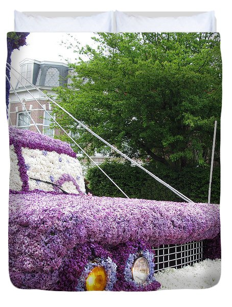Flower Parade. 03 Blumencorso Holland 2011 Duvet Cover by Ausra Huntington nee Paulauskaite